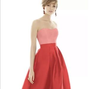 ALFRED SUNG Prom Dress Apricot Coral Size 0 $215